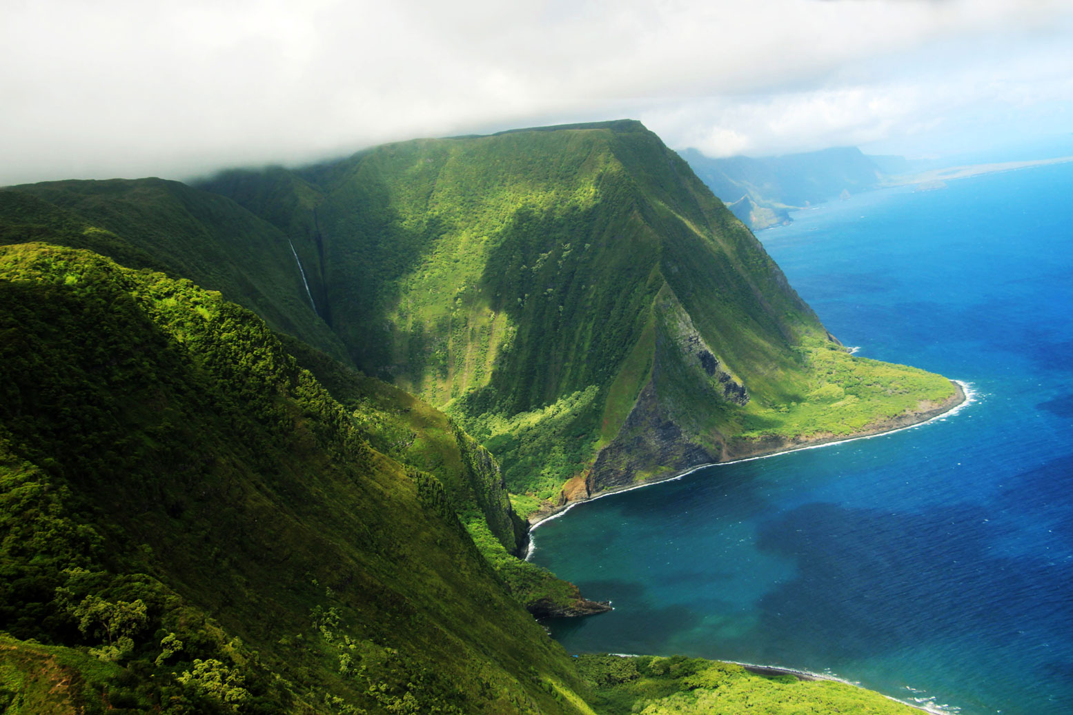 Areal view of Molokai island